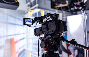 Camera in a film studio
