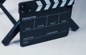 A film slate based on a director's chair