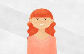 cartoon red-haired woman new york, ny